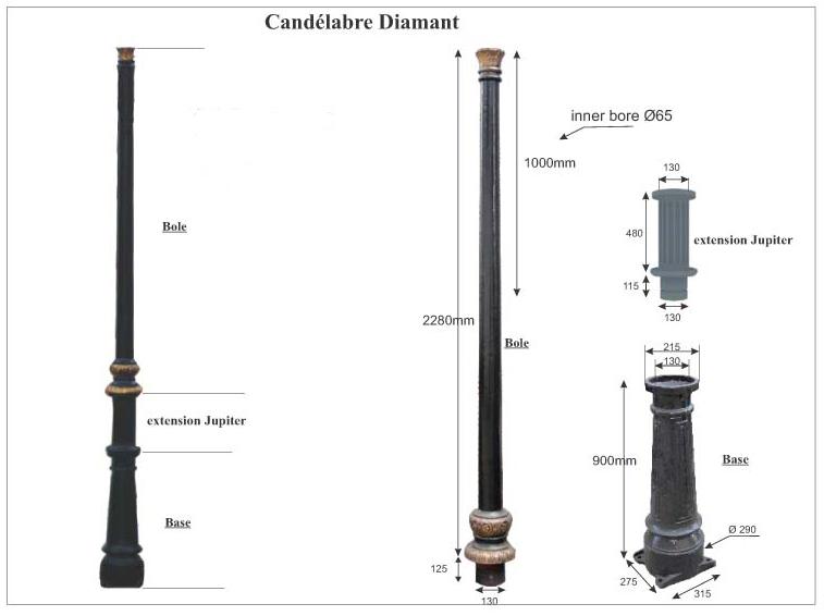 Ductile Iron Lamp Post
